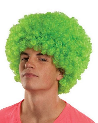 Classic Afro Wig Party Costumes Fancy Dress Accessories Funny- Green by (Hip Jugendliche Kostüme Für Hop)