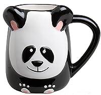 3-d Figural Panda Bear 16 Oz Coffee Tea Mug Cup Hand Painted By Tag