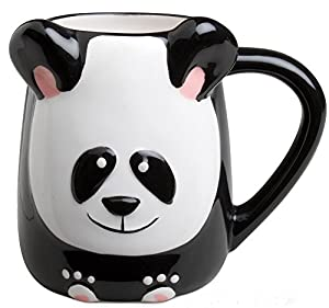 3-d Figural Panda Bear 16 Oz Coffee Tea Mug Cup Hand Painted By Tag