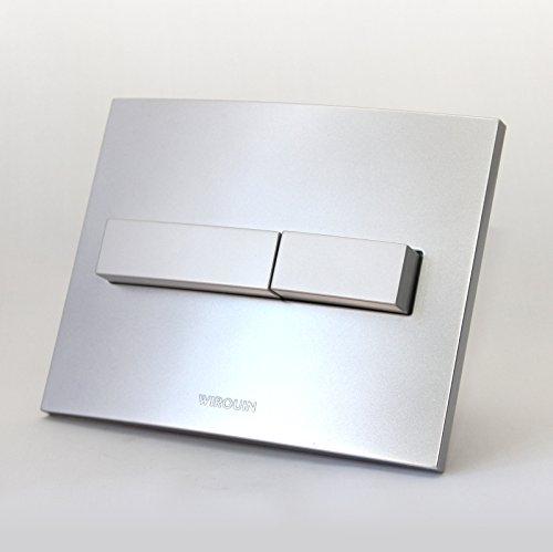 Wirquin Matt chrome push button face plate 50717753 by WIRQUIN