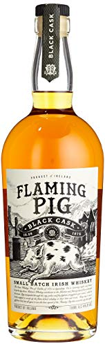 Flaming Pig Black Cask Irish Whiskey (1 x 0.7 l) - Black-finish Kurze