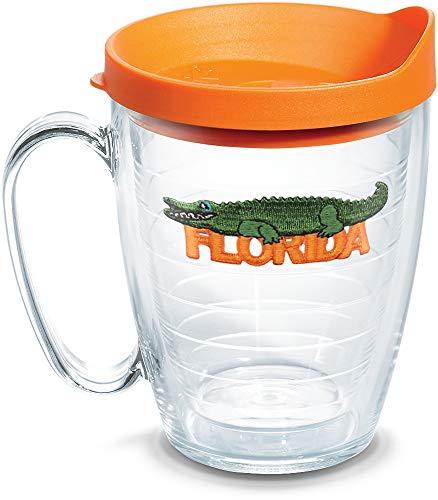 Tervis 1302233 Florida Alligator Isolierbecher mit Emblem und Deckel, 450 ml, transparent -