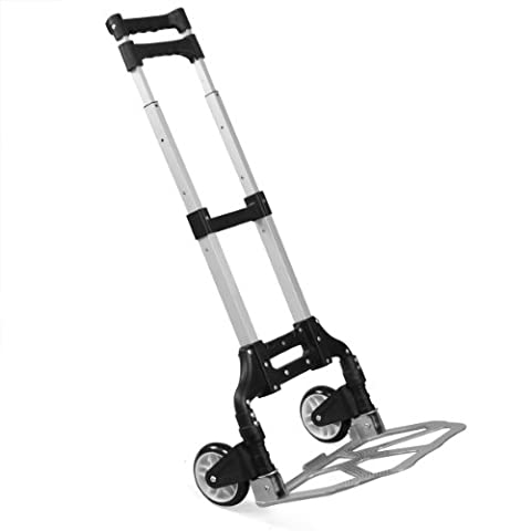 tinxs Heavy Duty Sackkarre, Hand, zusammenklappbar Trolley Cart faltbar Kofferraum Car Truck (Aluminum Folding Dolly)