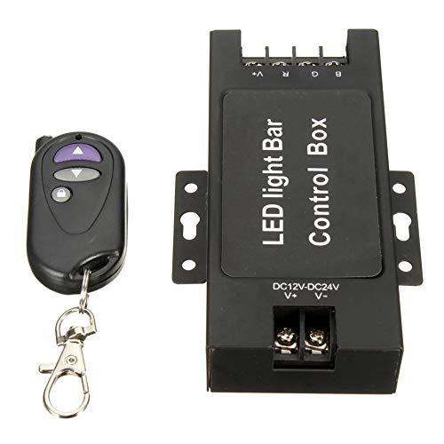 ARDUTE 12-24V LED-Lichtleiste Batteriesteuergerät mit drahtloser Fernbedienung Blitzsteuerung für Arbeitslampe 7 Blinkmodi-Schwarz (Lichtleiste Off Strobe Road Led)