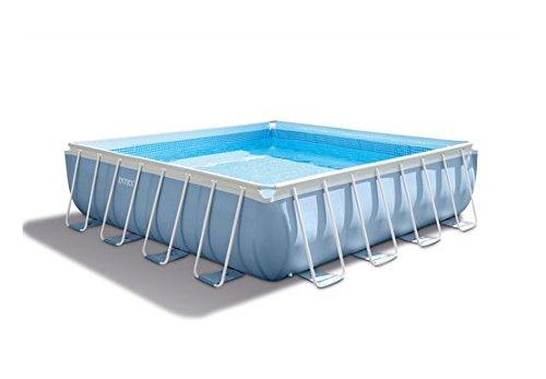 Intex 28764 PRISM Frame Pool Komplett-Set mit GS-Pumpe, 427x427x107cm