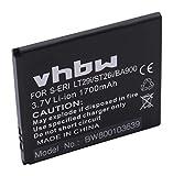 vhbw Li-Ion Akku 1700mAh (3.8V) für Handy Sony Xperia E1 (D2005), E1 Dual (D2105), L (C2105), M (C1905), M Dual (C2005) Wie BA900.
