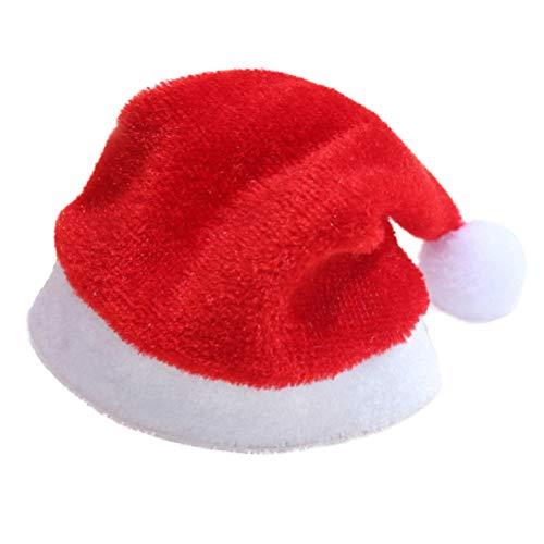 PRETYZOOM 10 STÜCKE Lustige Neuheit Rote Hosen Weihnachten Hut Kappe Weihnachtsmütze Party Dekoration (Rot) (Weihnachten Hut Neuheit)