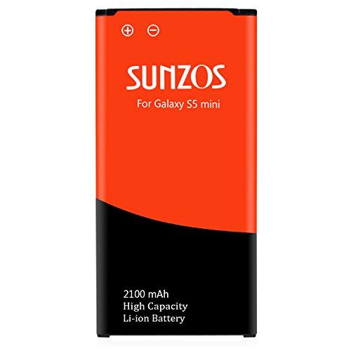 S5 Mini Akku, SUNZOS 2100mAh Akku für Samsung Galaxy S5 Mini Ersatz Original EB-BG800BBE SM-G800F Accu Batterie Battery