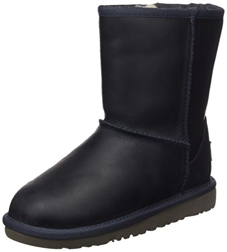 UGG Classic Short Leather, Unisex-Kinder Kurzschaft Stiefel, Blau (Peacoat), 30 EU