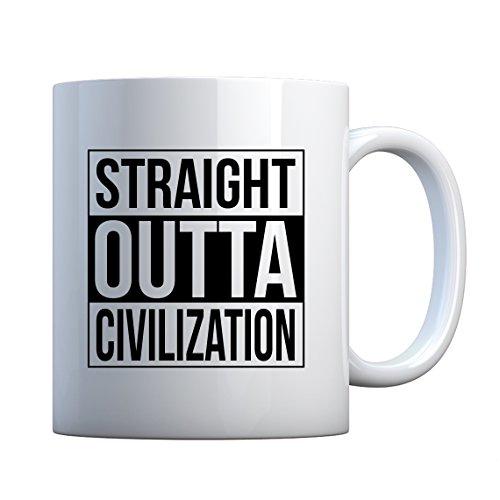 Indica Plateau Straight Outta Civilization Mug de cadeau en céramique 11oz blanc nacré