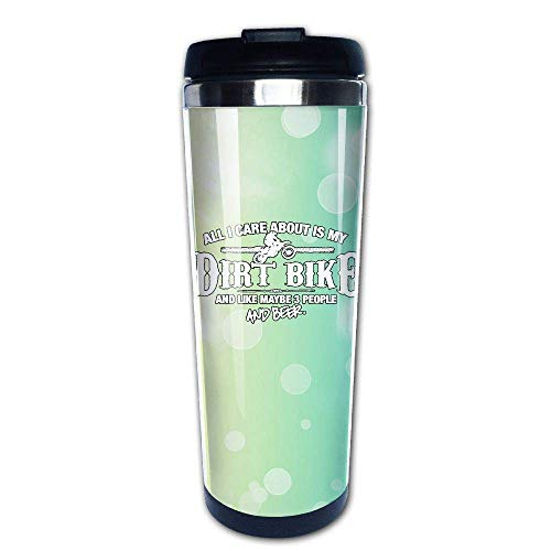 All I Care About is My Dirt Bike 400ml Stainless Steel Coffee Cup Tea Mug Travel Vacuum Insulated Mugs Hot Cold Tumbler