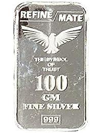 Silver Emporium Pure 999 Silver Bar (100 Grams)