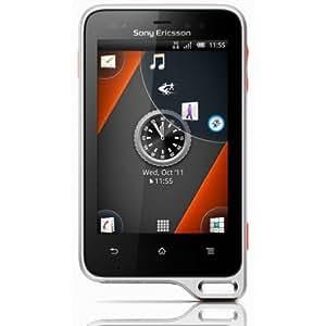 Sony Ericsson Xperia active Smartphone (7,6 cm (3 Zoll) Touchscreen Display, 5 Megapixel Kamera, GMS, UMTS, GPRS, microSD, WiFi, Android 2.3 OS) schwarz/orange