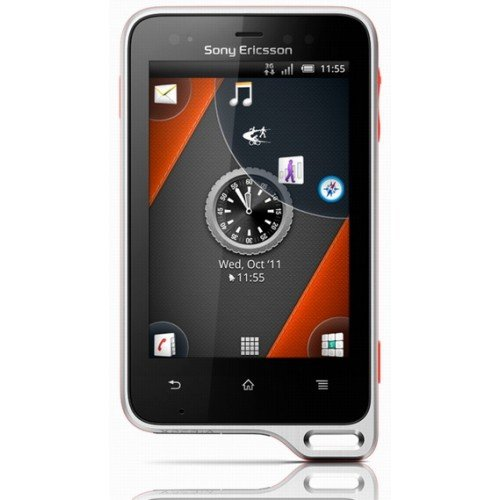 Sony Sony Ericsson Xperia active Smartphone (7,6 cm (3 Zoll) Touchscreen Display, 5 Megapixel Kamera, GMS, UMTS, GPRS, microSD, WiFi, Android 2.3 OS) schwarz/orange
