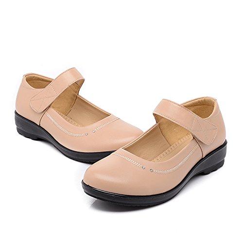 Scarpe piatte con mia madre/Centrale inferiore morbido e scarpe invecchiate donne vecchie/Scarpe/Donne grandi dimensioni scarpe-B Lunghezza piede=21.3CM(8.4Inch)