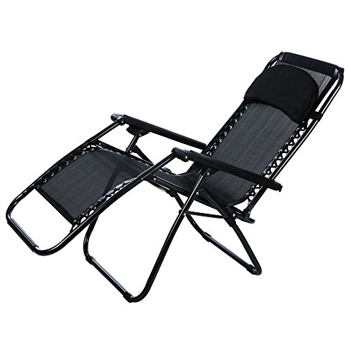 Ancheer Zero Gravity Lounge Chair - Black