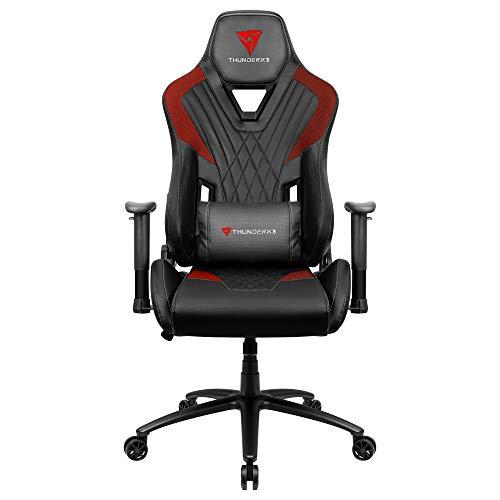 ThunderX3 DC3, silla gaming, tecnología AIR, transpirable y ajustable, rojo