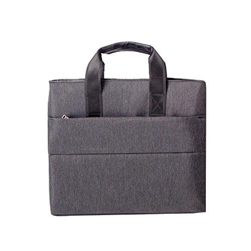 Yy.f Bürotaschen Aktentaschen Multifunktionale Tasche Papiertüten Computer-Taschen Dokumententasche Konferenztaschen Strapazierfähige Tasche Normallack-Paket Grey