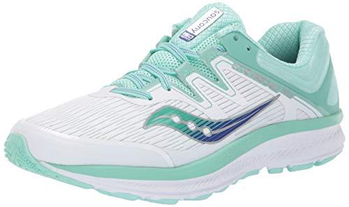 Saucony Women Guide ISO Stability Running Shoe Running Shoes White - Light Blue 4,5