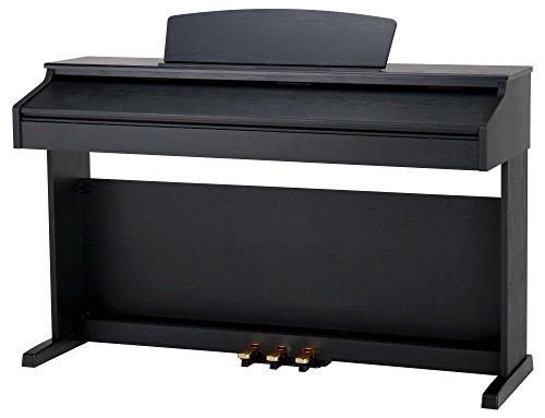 Classic Cantabile DP-50 SM E-Piano (Digitalpiano mit Hammermechanik, 88 Tasten, 2 Anschlüsse für Kopfhörer, USB, LED, 3 Pedale, Piano für Anfänger) schwarz matt - 2
