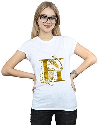 Absolute Cult Harry Potter Women's Hufflepuff Badger T-Shirt