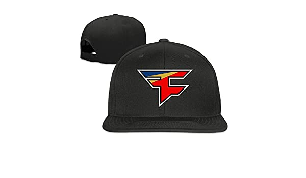 Hittings FaZe Clan Logo Adjustable Snapback Baseball Hats Flat Cap Black  Black  Amazon.co.uk  Sports   Outdoors 1f28e6cada9e