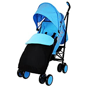 Zeta Citi Stroller Buggy Pushchair - Ocean (Complete With Footmuff + Raincover) by Baby Travel