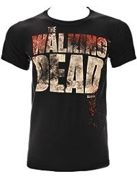 Camiseta de manga corta Splatter de la serie The Walking Dead (Negro)
