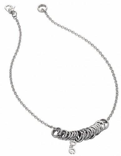 Dolce gabbana & dj1103-polish-collana da donna in acciaio inossidabile, 45 cm