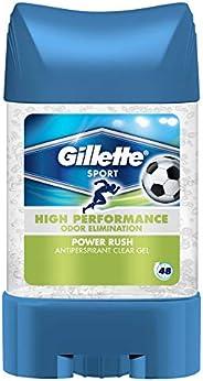 Gillette Clear Gel Power Rush Antiperspirant, 70ml