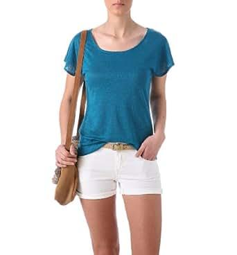 Promod T-shirt en lin Femme Bleu Canard 1