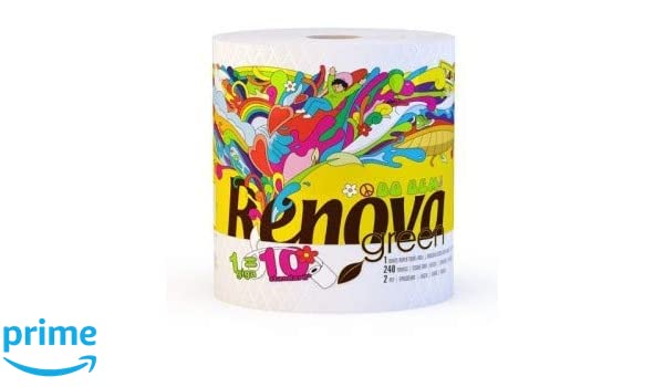 Renovagreen 100/% Recycled Paper Towel Gigaroll x 6 Pack of 6