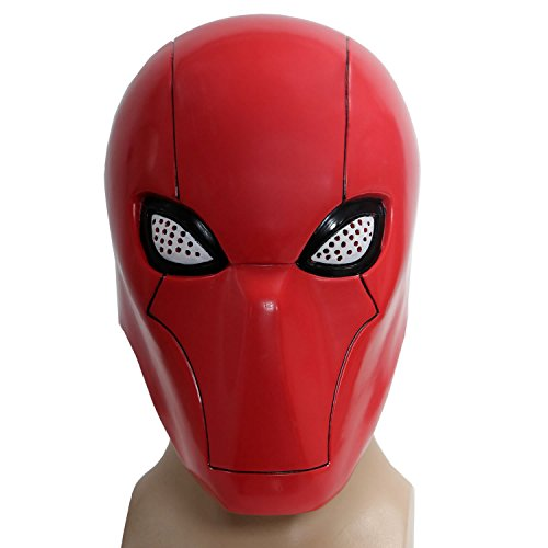Red Head Maske with Netz Eye Hood Cosplay Helme Halloween Cosplay Masks Karnevals Kostüm (Red Hood Helm Kostüm)