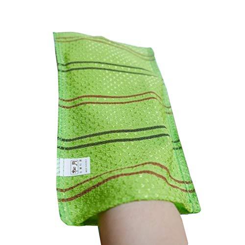 (10 Pack) SongWol Korean Beauty Skin große Peeling-Handschuhe Badetuch Scrub Kleider waschen - Made in Korea grün -