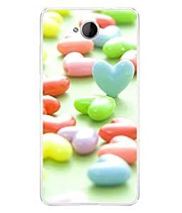 FUSON Designer Back Case Cover for Microsoft Lumia 650 :: Microsoft Lumia 650 Dual SIM (Candy Crush artistic Love Dice Colour Mints )