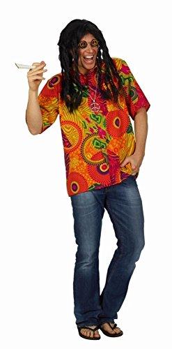 Happy Hippie-Hemd Hemd für Hippie Kostüm (Stoner Kostüm)