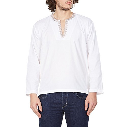 2017 Indien Tracht (Komfortable Kurta Shirt Für Herren Bestickte Indische Tracht 44)