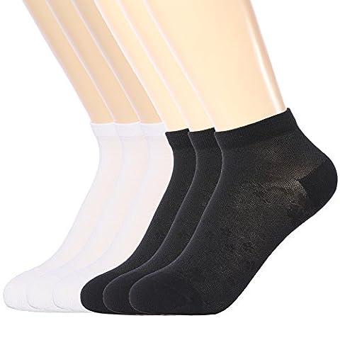 Femme Coton Sneaker Chaussettes, Lot de 6 Paires