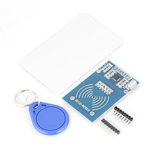 Preisvergleich Produktbild Akozon RC522 Radiofrequenz RFID 5 teile / satz IC Karte Sensor Modul und S50 Leere Karte und Schlüssel Ring Induktive Modul Interface Lesen KeyCard RFID Reader IC Karte Modul for Arduino