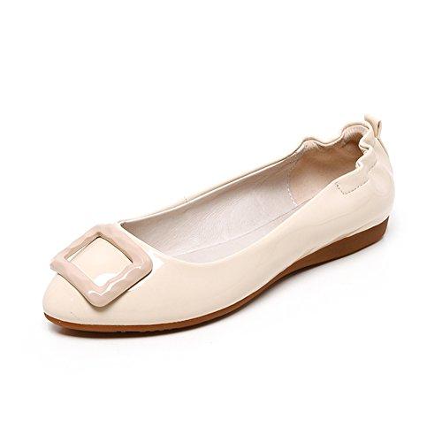 Signora della moda scarpe a punta piatta/pallido egg roll scarpe/vorticoso nei panni di primavera B