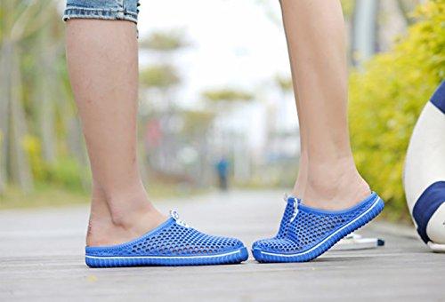 Moolecole Breath Unisex Adult Garten Clog Schuhe Männer Frauen Strand Sandalen Sommer Slippers Blau