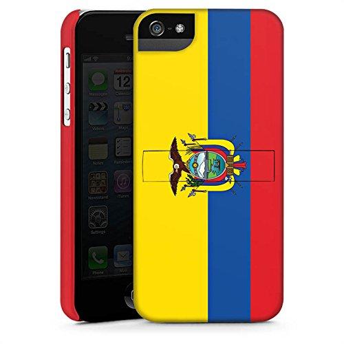Apple iPhone X Silikon Hülle Case Schutzhülle Ecuador Flagge Fußball Premium Case StandUp