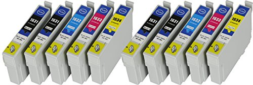 10 XL Druckerpatronen mit CHIP und Füllstandanzeige für Epson WorkForce WF-2010, WF-2010W,...
