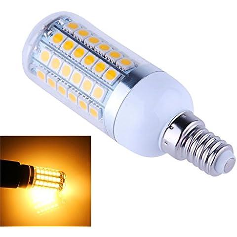 Bloomwin - 10pcs Luz Bombilla LED E14 Alta Potencia 5050SMD 200-245V - 8W 69LEDs - Blanco Cálido