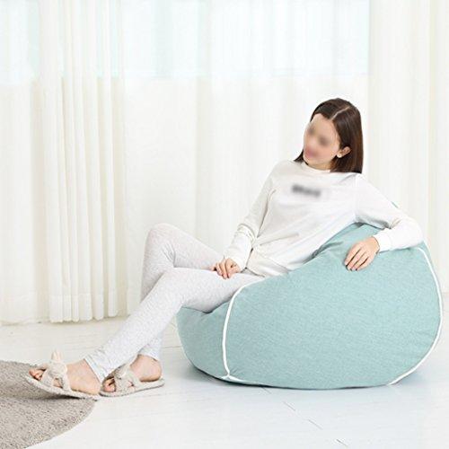 Chaise longue de salon de chambre à coucher de sac d'haricot de sofa de chaise simple démontable lavable 80 * 90cm (Couleur : Bleu clair)