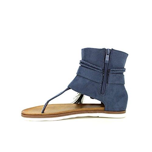 Cendriyon Tongs Blues CM Moda Chaussures Femme Bleu
