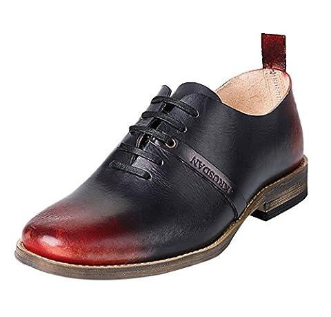 Insun , Chaussures de ville à lacets pour garçon - rouge - bordeaux, 41