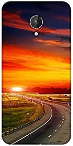 Snoogg The Way To Sunset Designer Protective Back Case Cover For Micromax Canvas Spark Q380