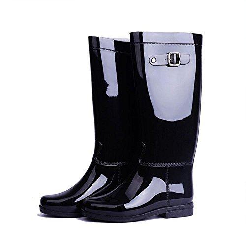 PVC Anti-Rutsch Verschleißfeste Mode Regenstiefel Black