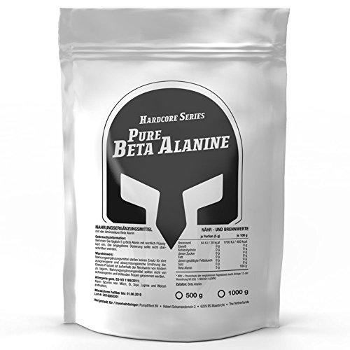 Beta Alanin | 500g Pulver Big Pack XL | Steigert Carnosin-Produktion | Kraft + Kraft-Ausdauer | Für den Muskelaufbau | Premium Qualität